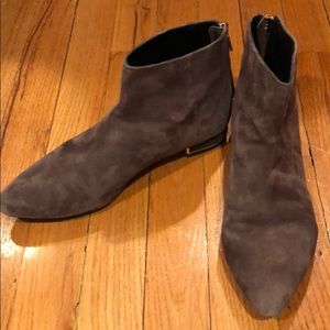 Gray suede booties Zara size 38 Great condition